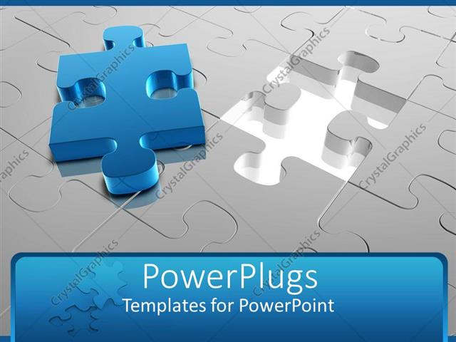 Powerpoint Template: Jigsaw Puzzle With Missing Piece Placed On