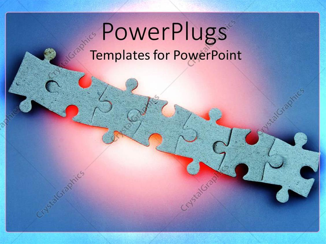 Powerpoint Template Several Blue Jigsaw Puzzle Pieces 11 Multiple Diagram Templates Graphics Slides 0712 Arranged In