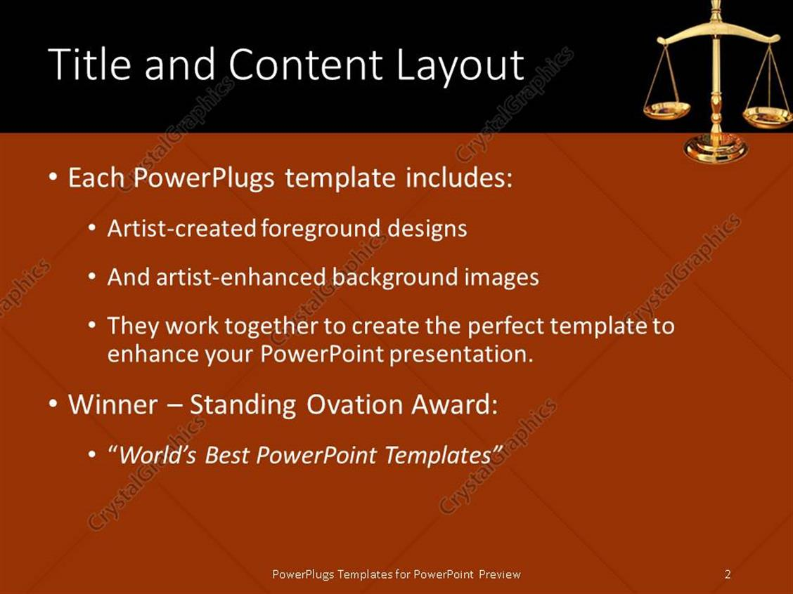 Powerpoint template justice strength 18086 powerpoint products templates secure standing ovation award toneelgroepblik Choice Image