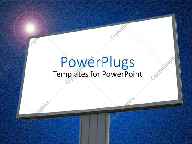 powerpoint template a large plain blank billboard with and a, Powerpoint