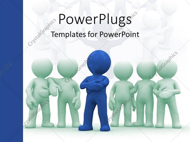 PowerPoint Template Displaying Leadership and Responsibility to Build Together a Hardworking Team on a White Background