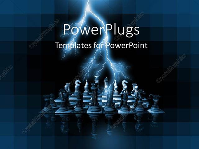 Powerpoint template lightning over rendered chess pieces on glass powerpoint template displaying lightning over rendered chess pieces on glass chess board toneelgroepblik Gallery