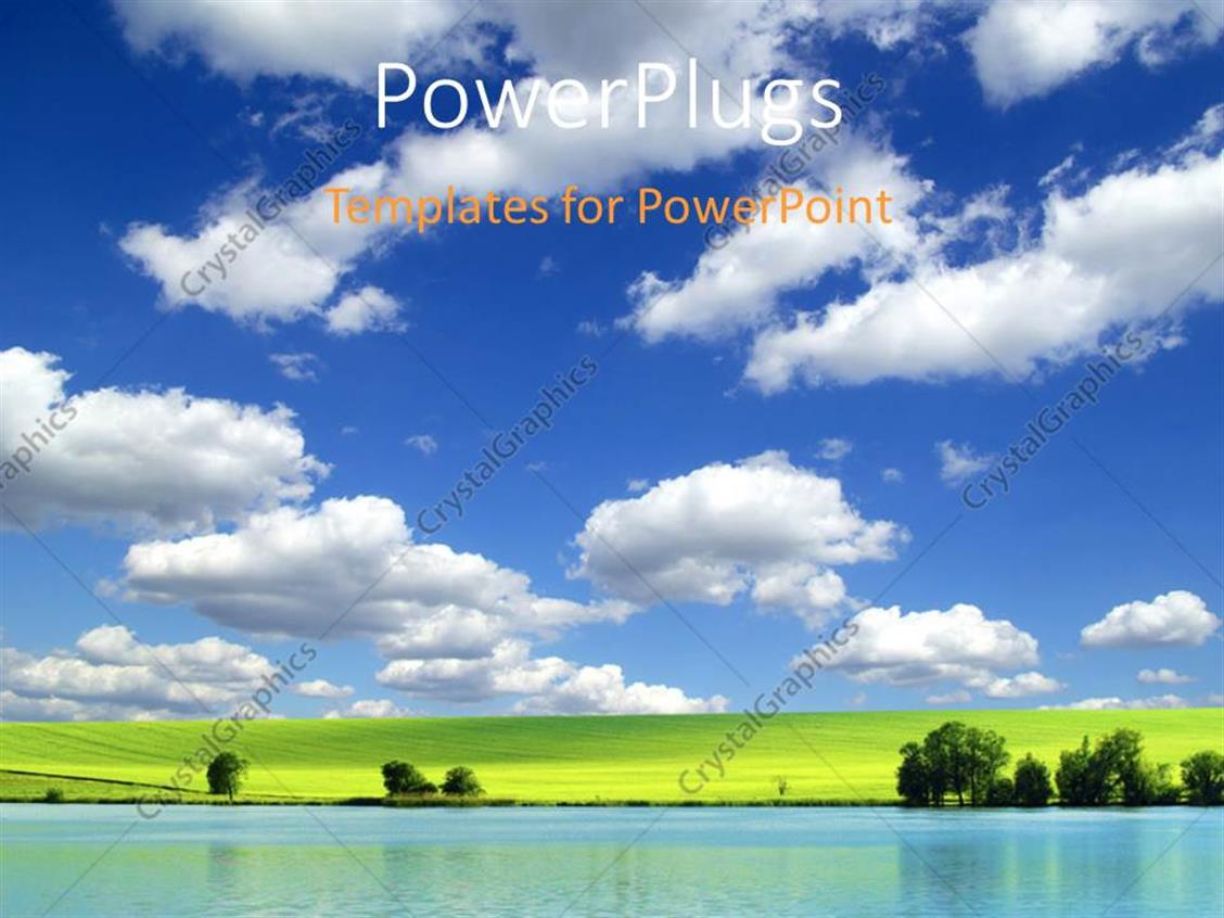 ... Summer Powerpoint Template Powerpoint Template A Lot Of Greenery And  Clouds In The ...