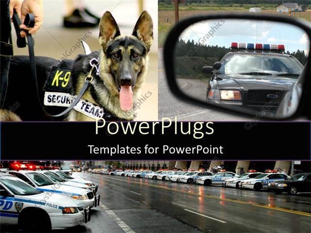 Powerpoint template lots of police vehicles in lines and a powerpoint template displaying lots of police vehicles in lines and a security dog toneelgroepblik Choice Image