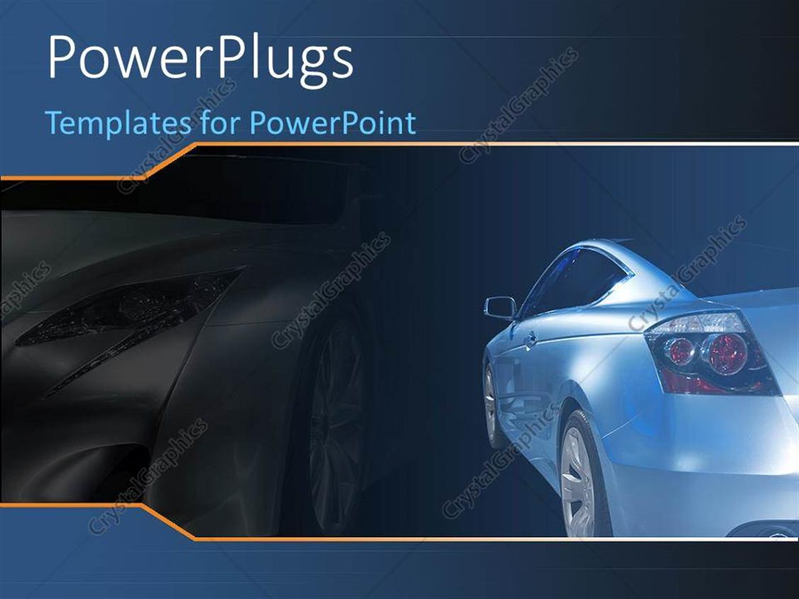 PowerPoint Template: a luxurious car with its shadow in the ...