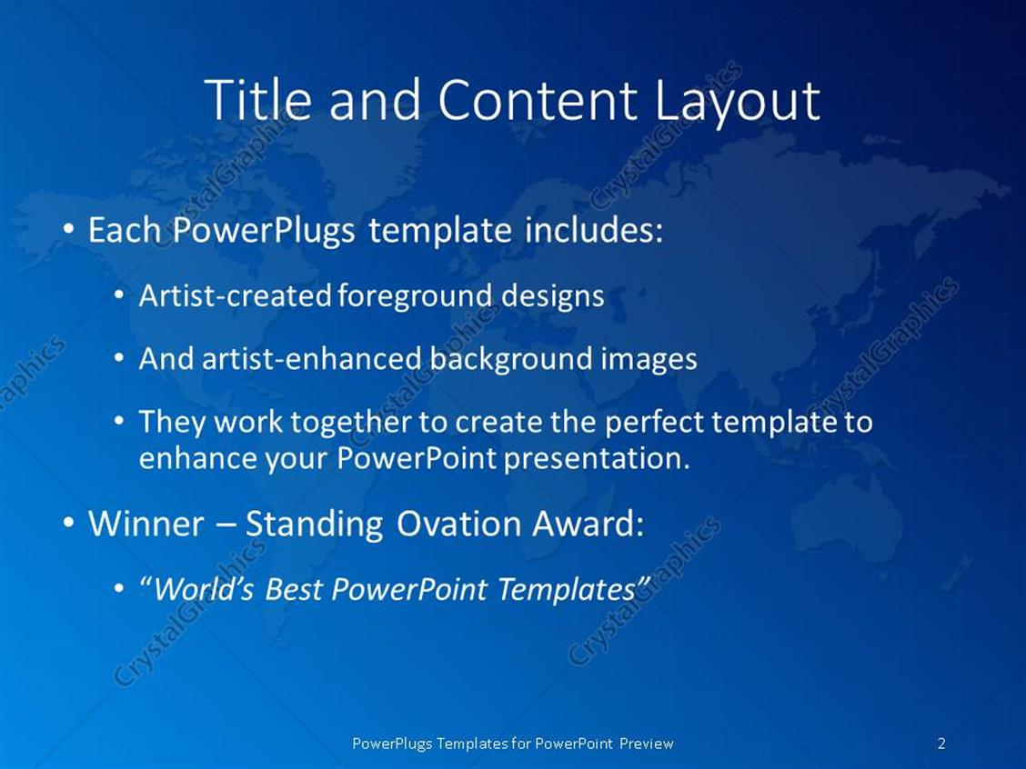 powerpoint template: the map of the earth with bluish background, Presentation templates
