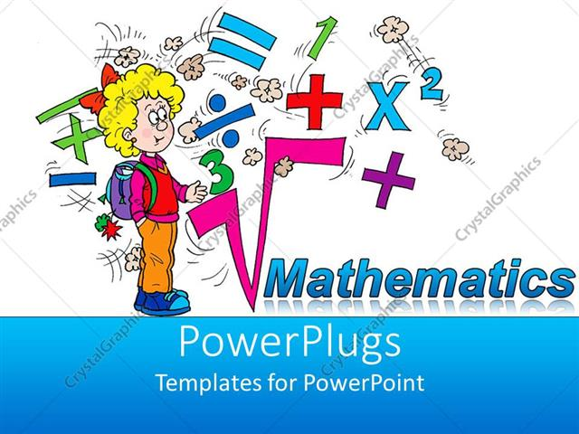 powerpoint template math related symbols and the word mathematics, Powerpoint