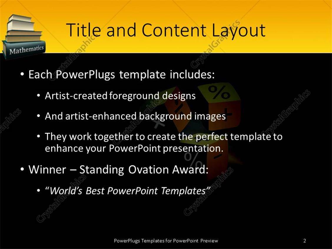powerpoint templates math