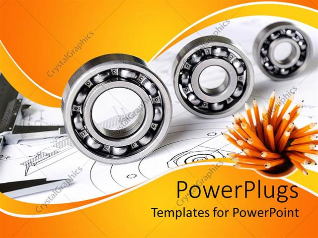 Powerpoint Template Mechanical Engineering Theme With Three