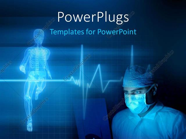 Powerpoint Template Medical Background With A Heart Beat  Pulse