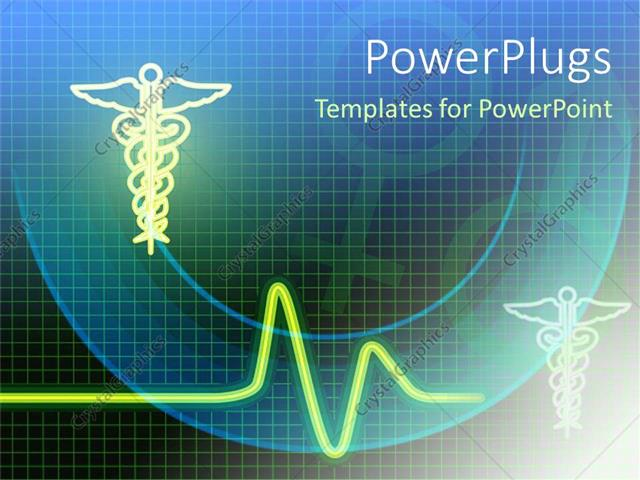 PowerPoint Template: medical related symbols with heartbeat line ...