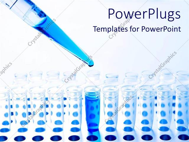 Powerpoint template medical science pipette and test tubes and powerpoint template displaying medical science pipette and test tubes and blue fluid chemistry research toneelgroepblik Image collections
