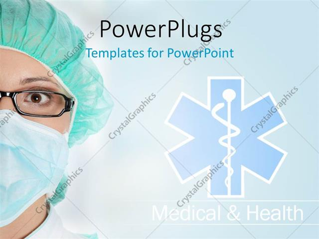 powerpoint template: medical theme with doctor and medical sign, Powerpoint templates