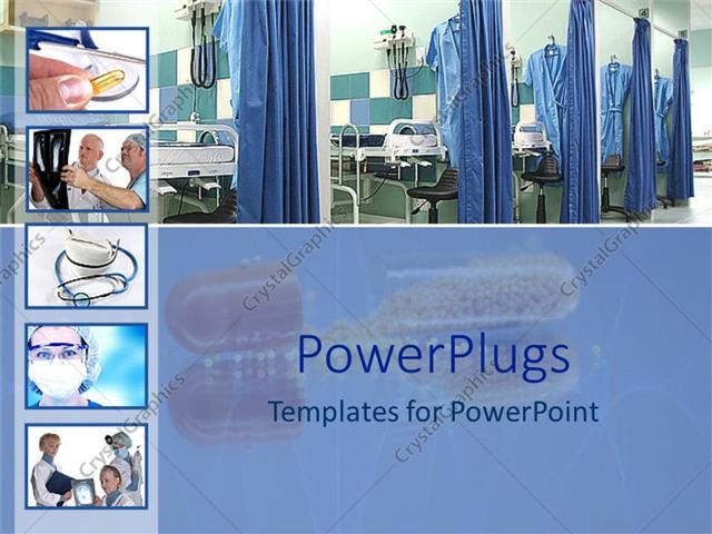 Powerpoint template medical theme with five small depictions of powerpoint template displaying medical theme with five small depictions of doctors pills stethoscopes toneelgroepblik Images