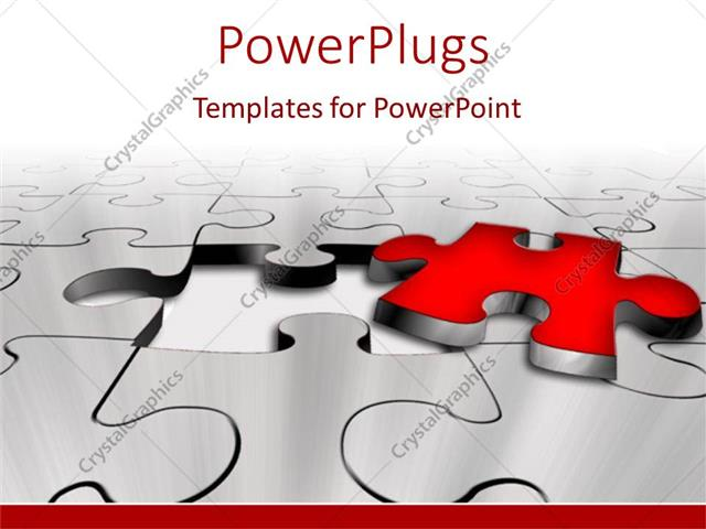 Powerpoint template missing red puzzle piece problem solution key powerpoint template displaying missing red puzzle piece problem solution key white background toneelgroepblik Choice Image
