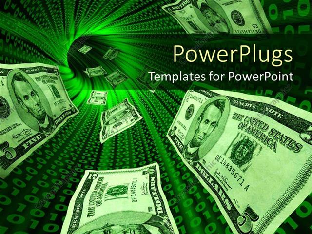 Powerpoint template money bills flowing through a tunnel with powerpoint template displaying money bills flowing through a tunnel with glowing red binary codes toneelgroepblik Gallery