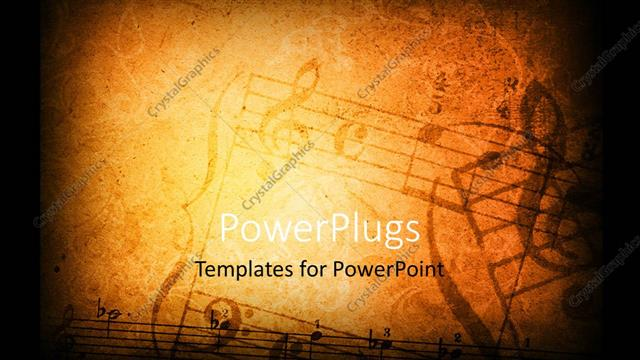 powerpoint template music grunge background with different music, Powerpoint