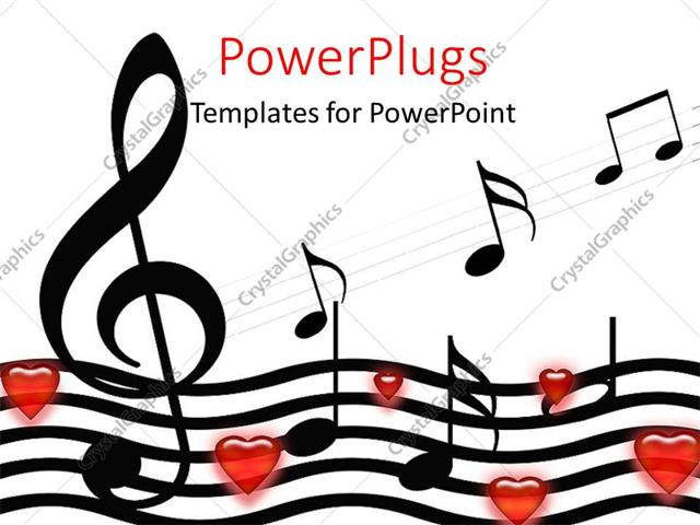 Powerpoint template music symbols and hearts over white powerpoint template displaying music symbols and hearts over white background toneelgroepblik Choice Image