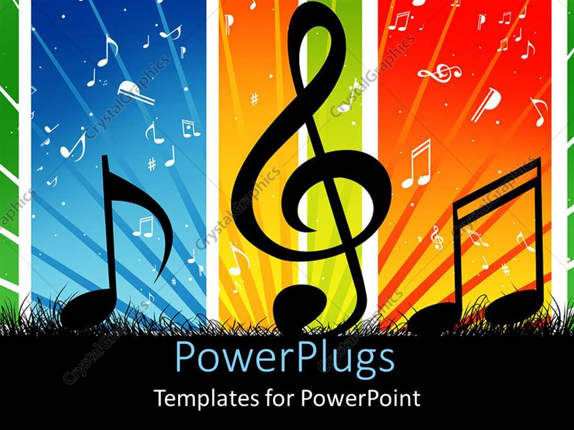powerpoint template music themed background with cool
