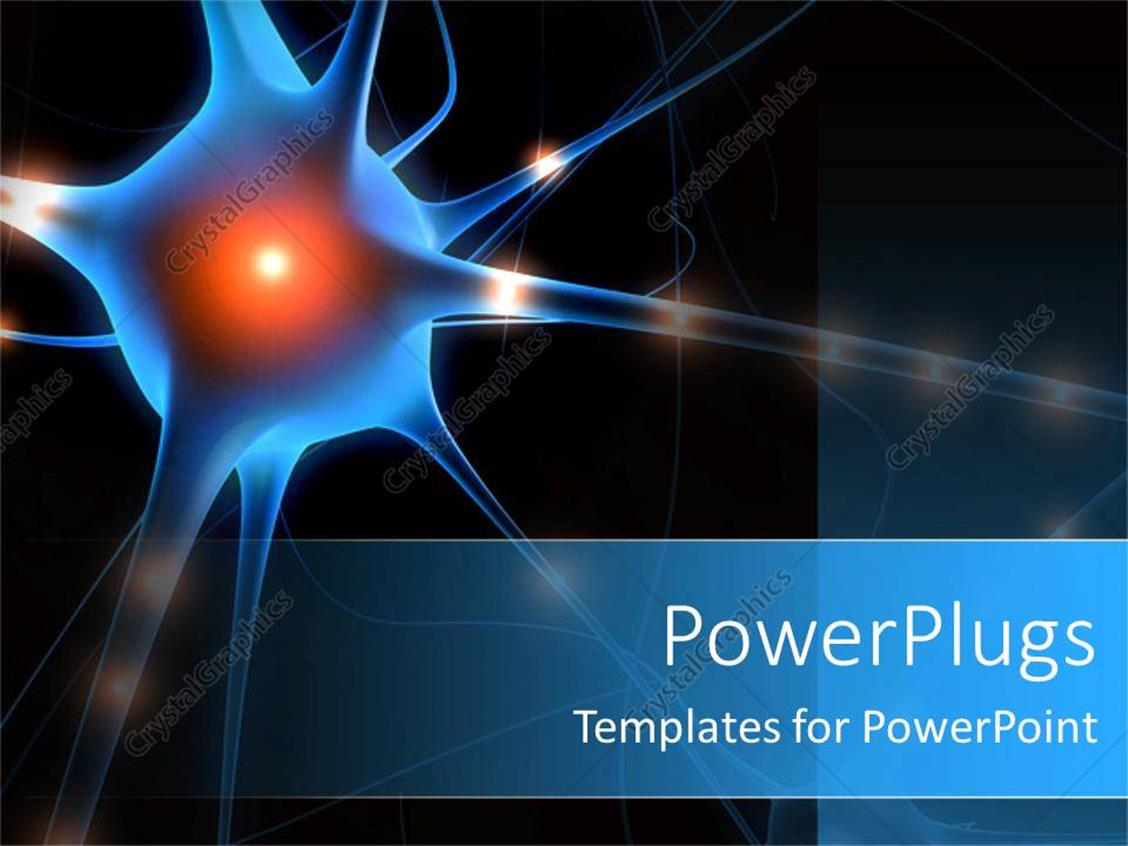 powerpoint template a nerve cell with blackish background