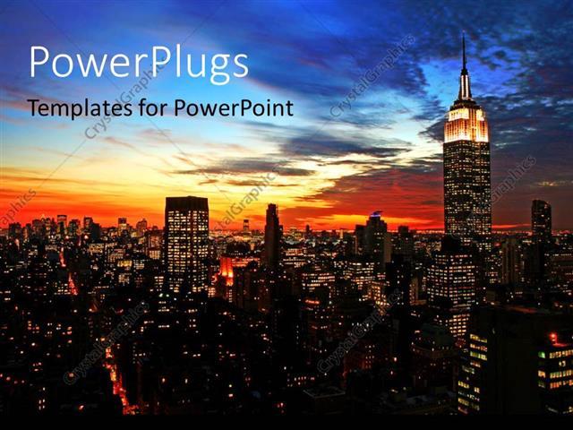 Powerpoint template new york city midtown skyline at dark 22225 powerpoint template displaying new york city midtown skyline at dark toneelgroepblik Images