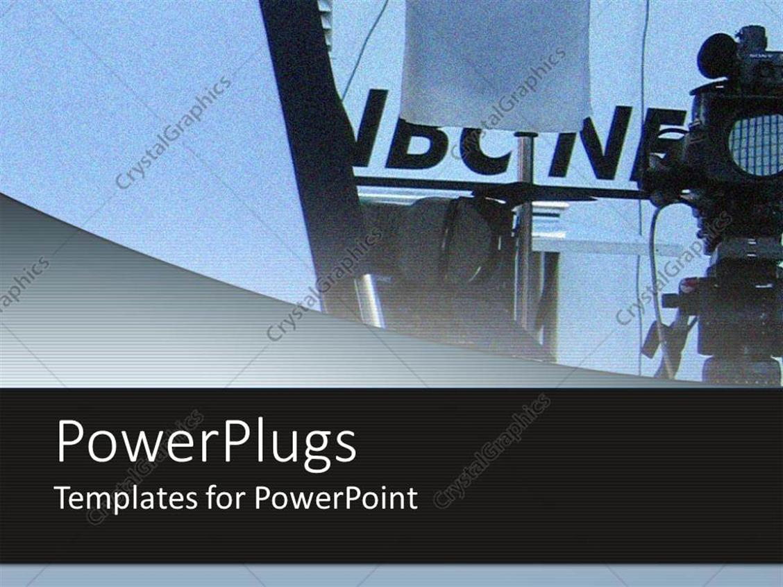 PowerPoint Template Displaying News Reporting Background with Place for Text