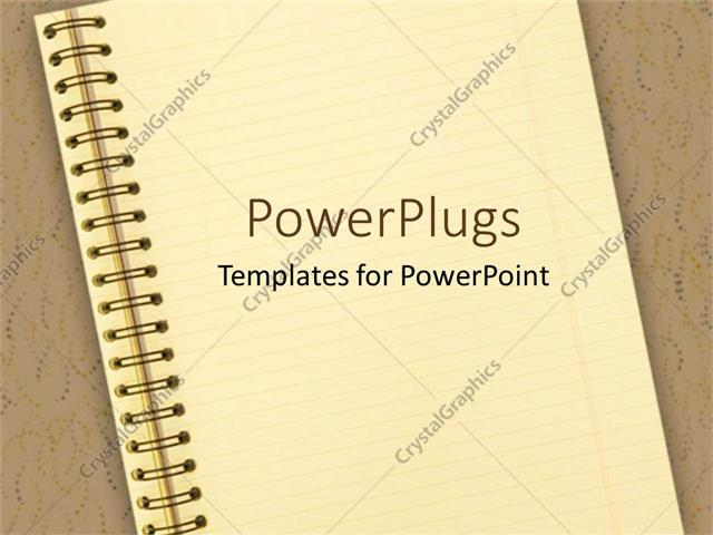 Powerpoint template notebook on brown background school powerpoint template displaying notebook on brown background school education learning toneelgroepblik Choice Image