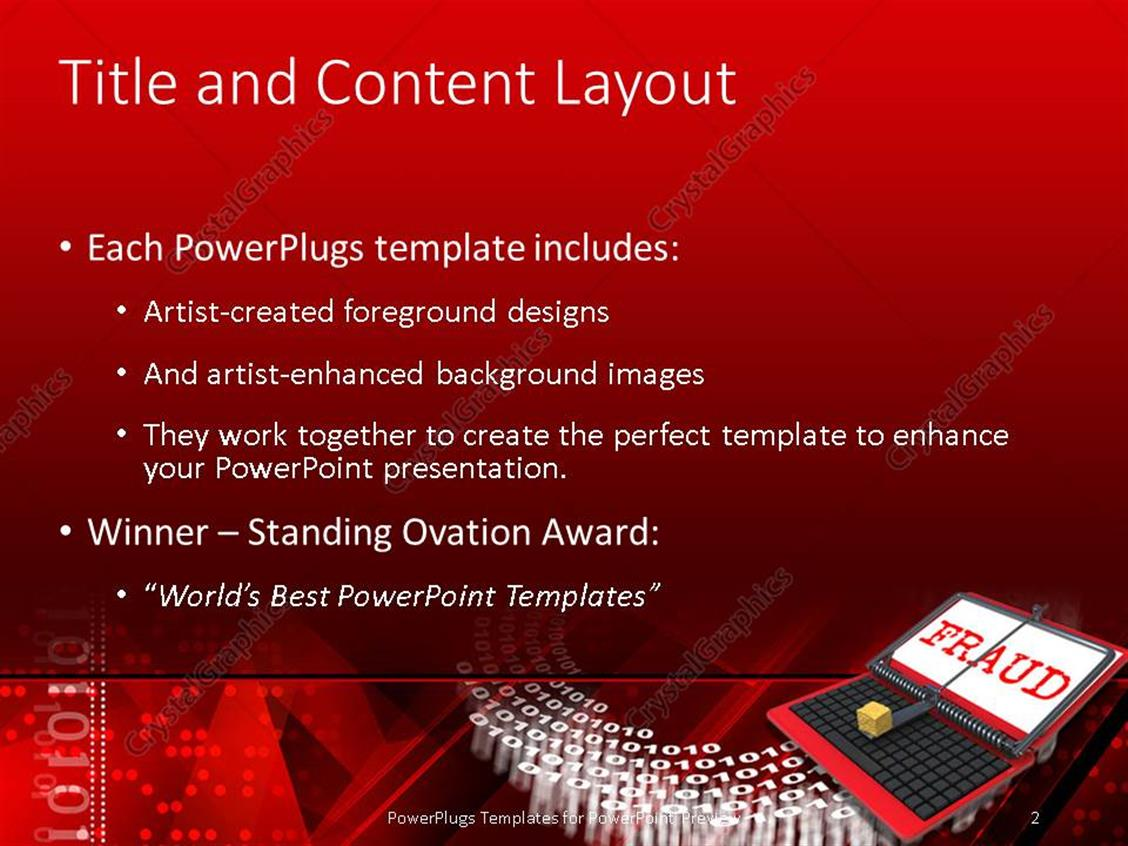 Powerpoint template notebook laptop with fraud on screen with powerpoint products templates secure standing ovation award toneelgroepblik Gallery