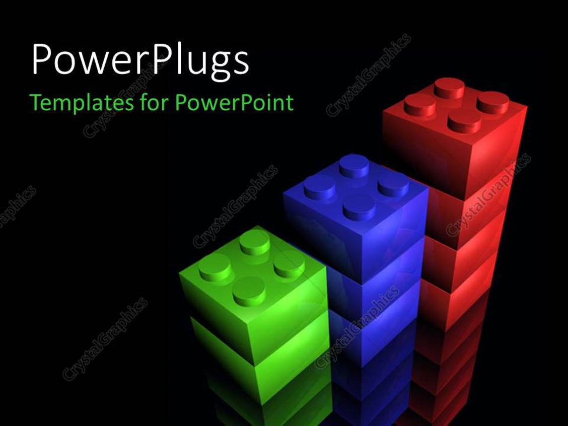PowerPoint Template Displaying a Number of Boxes with Blackish Background
