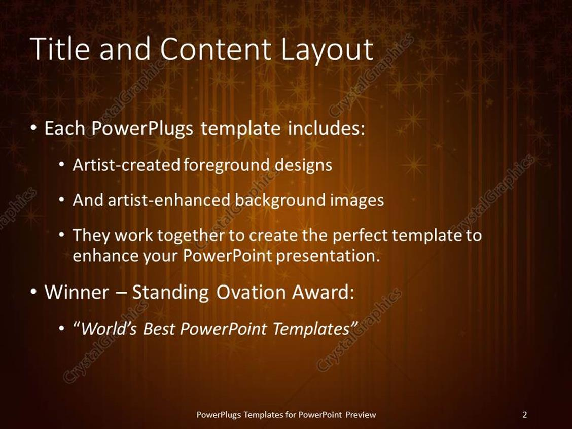 Awards powerpoint template event tickets template powerpoint templates awards gallery powerpoint template and layout number glowing stars brownish background xl 7118 1 toneelgroepblik Images