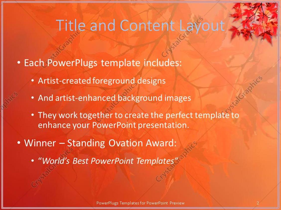 powerpoint template: a number of leaves in the fall with colorful, Powerpoint templates