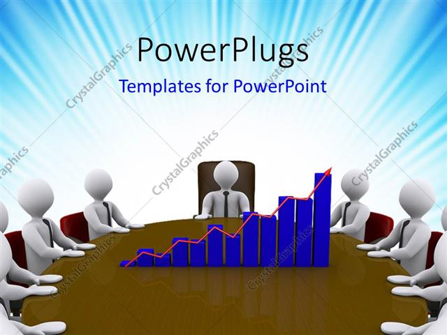 Powerpoint Template: A Number Of People Working In An Office With