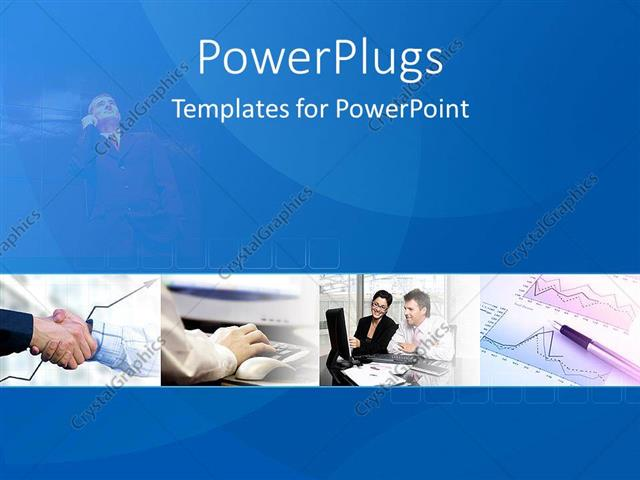 Powerpoint Template A Number Of Professional People In Their