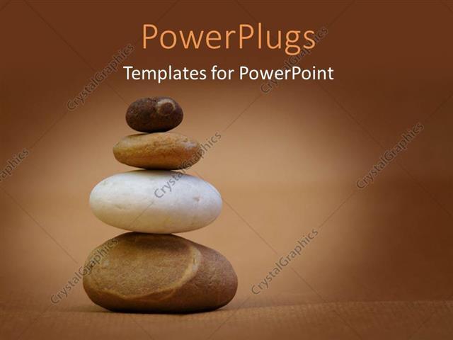 Powerpoint template a number of zen stones with brownish powerpoint template displaying a number of zen stones with brownish background and place for text toneelgroepblik Gallery