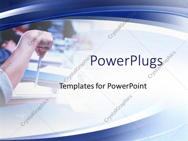 Powerpoint Template: Office Meeting Theme With Hands, Notebooks