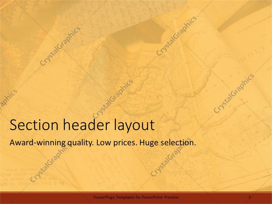 powerpoint template: old tan maps of the world for travelers, Modern powerpoint