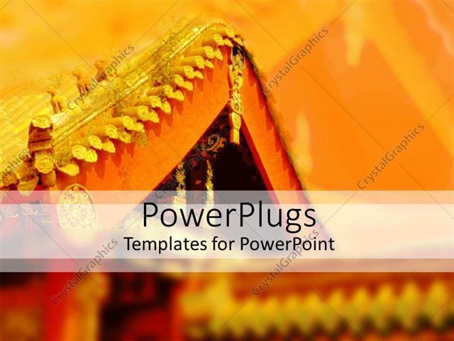 powerpoint template: oriental architecture depicting oriental, Modern powerpoint