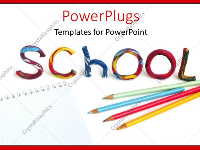 Crayon template for powerpoint bellacoola powerpoint template pencils and crayons on notepad with colorful powerpoints templates toneelgroepblik Gallery