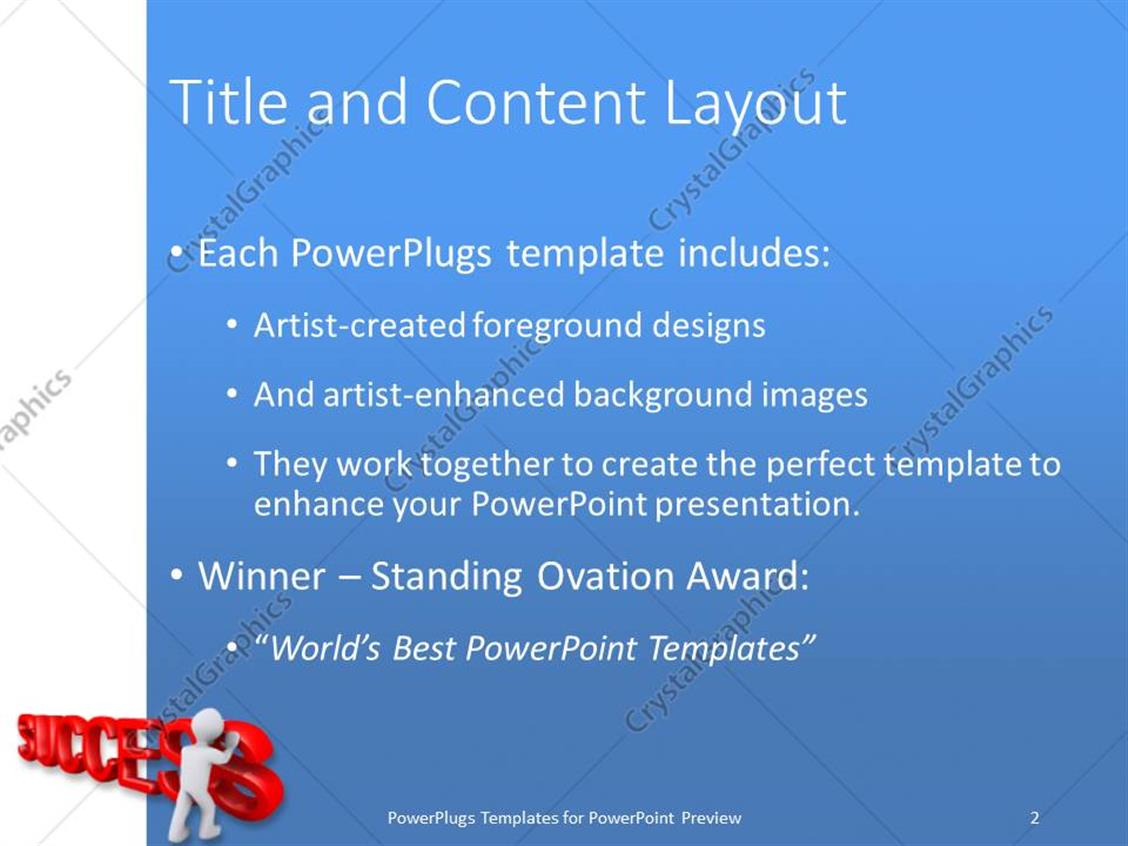 Award winning powerpoint templates gallery templates example award template powerpoint image collections templates example powerpoint template a person arranging the word success with toneelgroepblik Image collections
