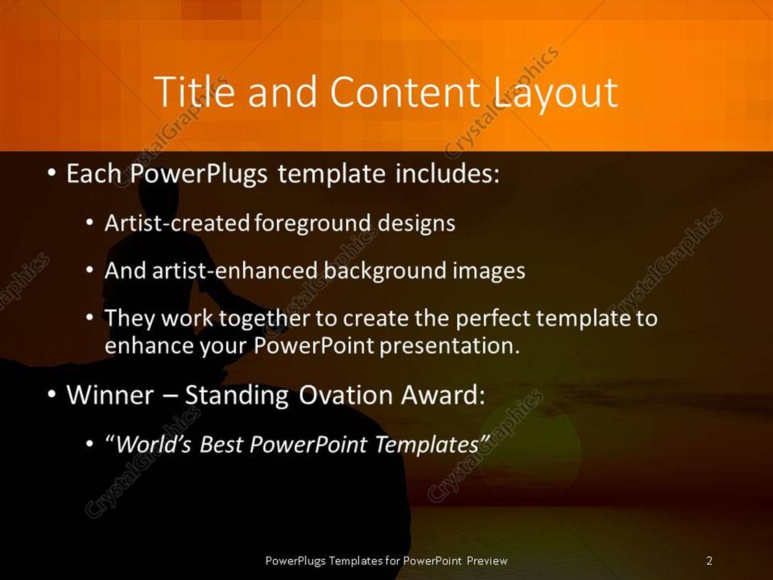 yoga powerpoint template images - powerpoint template and layout, Presentation templates