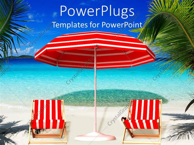 setting up a powerpoint template - powerpoint template picture of a red and white beach