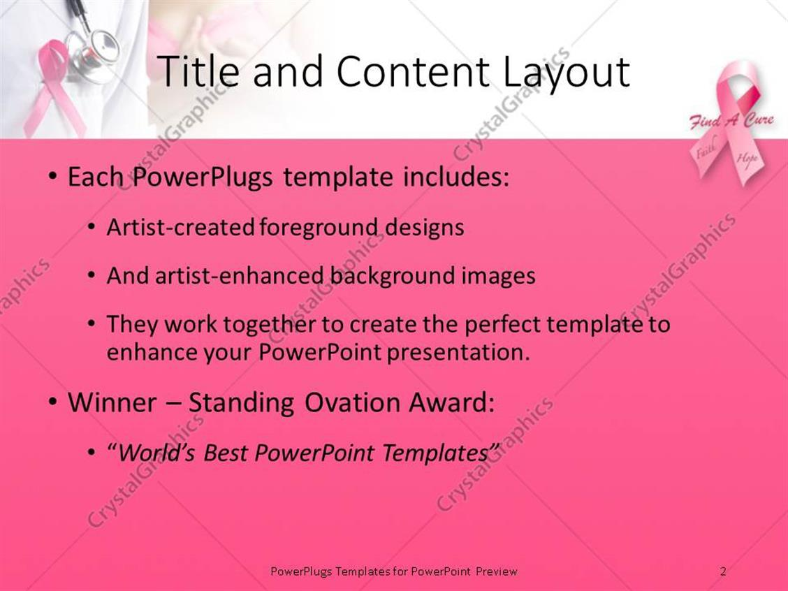 100 breast cancer powerpoint slides stimuli responsive breast cancer powerpoint slides powerpoint template pink ribbons depiction breast cancer toneelgroepblik Images