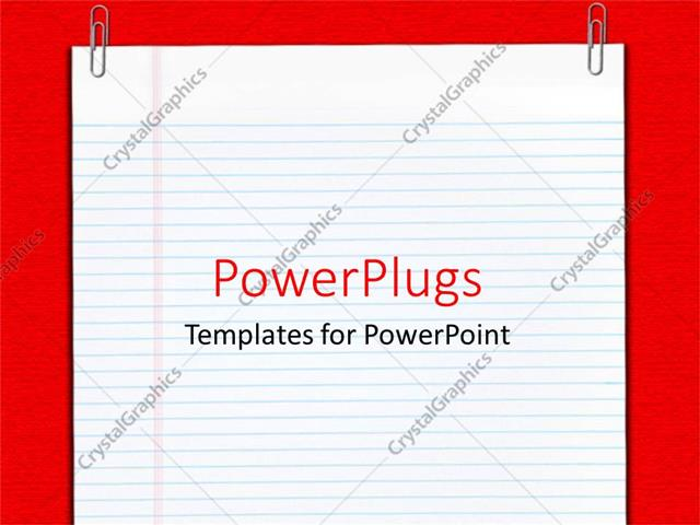 Powerpoint template plane empty school report sheet with two powerpoint template displaying plane empty school report sheet with two paper clips toneelgroepblik Choice Image