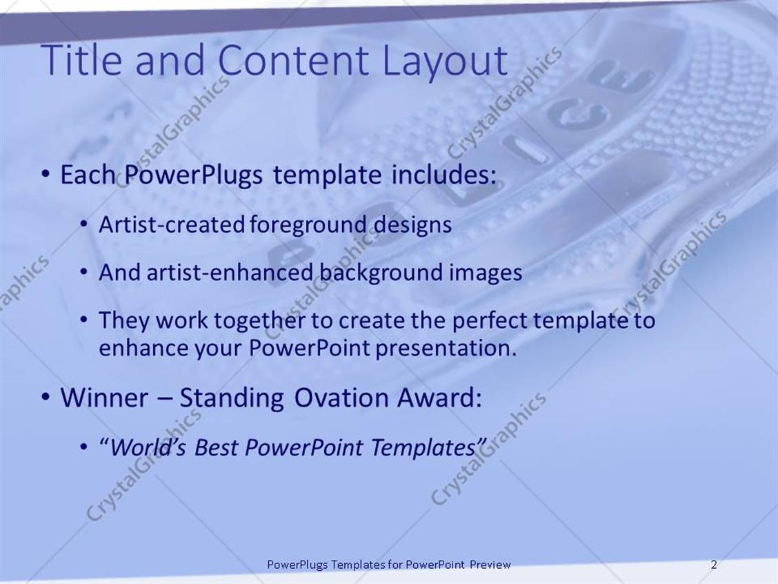 powerpoint template a police badge with white background 23664