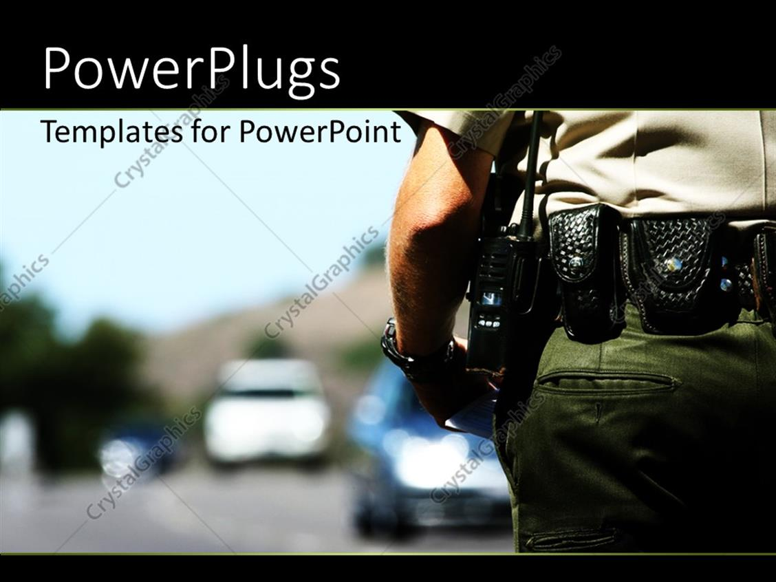 Enforcement powerpoint templates free free law enforcement powerpoint template police officer with police radio enforcement powerpoint templates free toneelgroepblik Choice Image