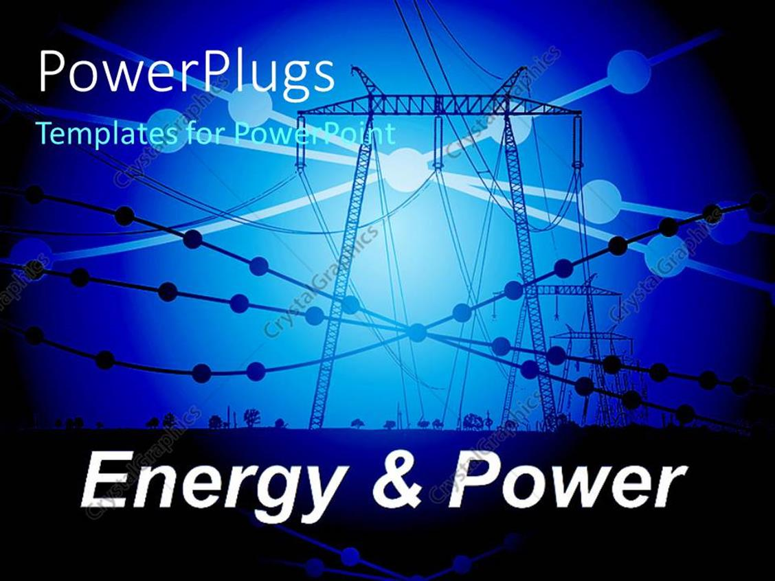 PowerPoint Template: Power line carriers with small ...