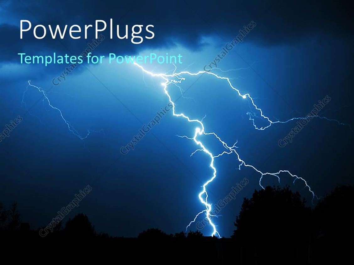 Powerpoint template powerful lightning strike in the for Lightning link template