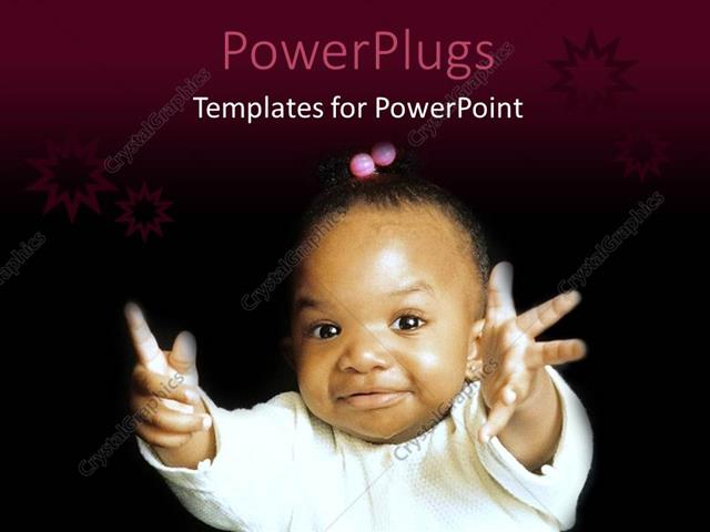 Powerpoint template a pretty african american baby on a black powerpoint template displaying a pretty african american baby on a black background toneelgroepblik Gallery