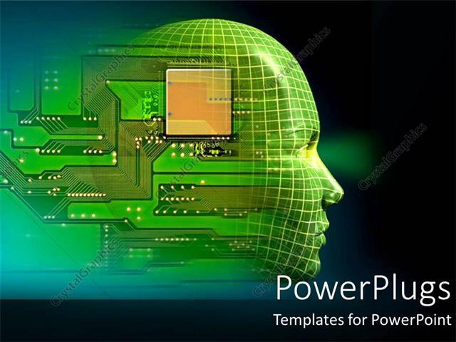 Powerpoint template printed circuit board embedded in human head powerpoint template displaying printed circuit board embedded in human head depicting robotics toneelgroepblik Gallery