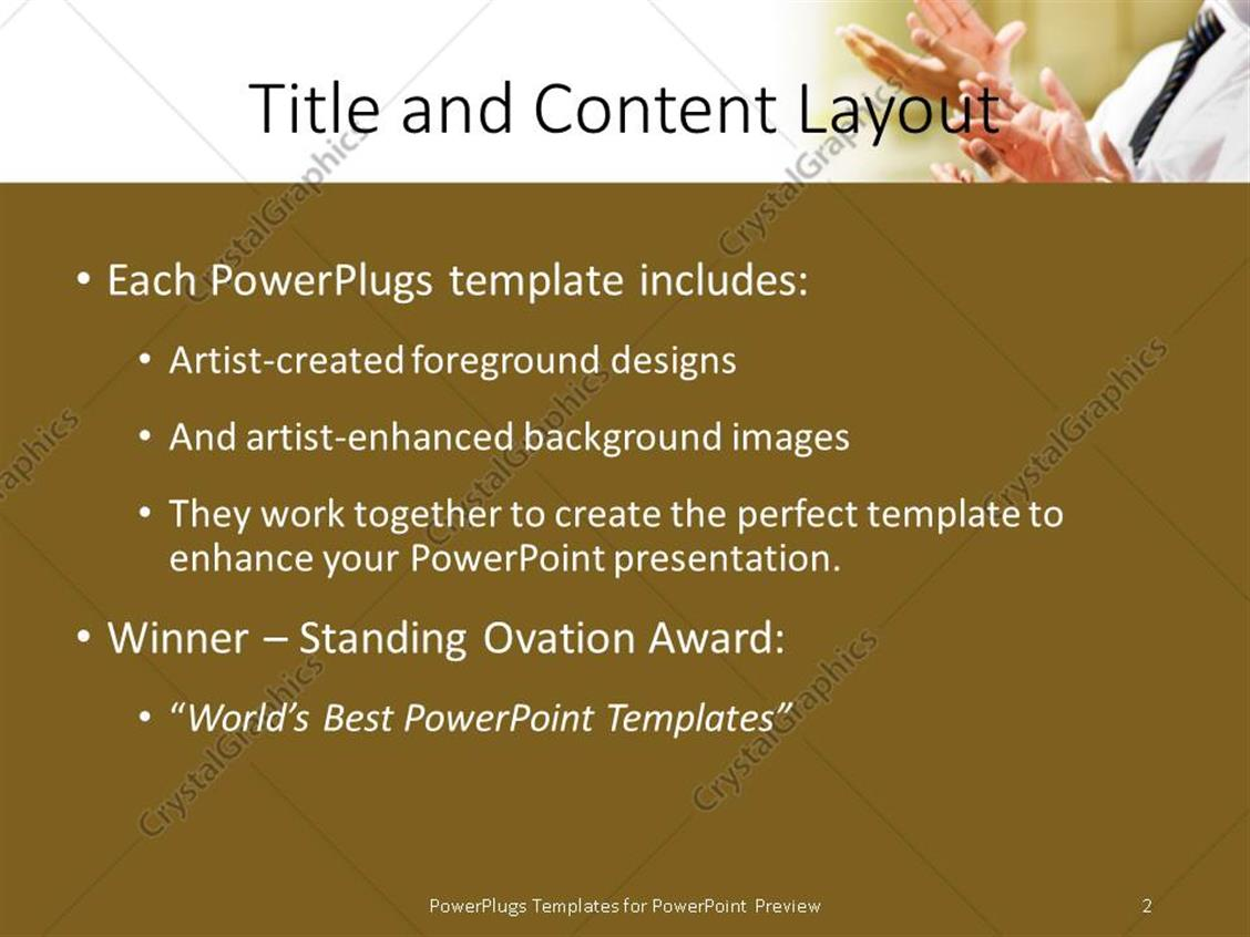 Powerpoint template a professional clap of appreciation with powerpoint products templates secure toneelgroepblik Choice Image